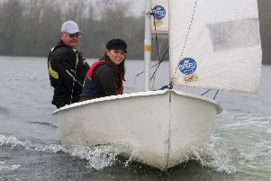 Out on the water with the sailing club is Chad reporter Jessica Dallison.