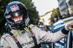 Co-driver Phil Hall, of Mansfield, who has won the Royal Air Force Rally Championship