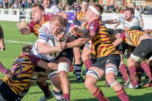 Action from Hoppers' victory (photo: Mike Craig)