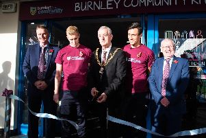 Mayor of Burnley Coun. Charlie Briggs officially opens Burnley Community Kitchen