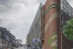An artist's impression of the new facade at the Walkden Street car park.