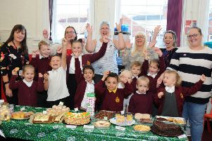 King Edwards pupils at a recent MacMillan coffee morning.
