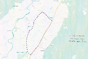 A map showing the road closure and diversion.