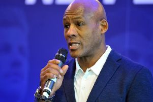 Ellery Hanley MBE at today's Betfred Super League launch (Tony Johnson)