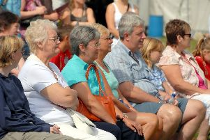 2007: This crowd are enjoying the band at the Morgreen Show. Do you recognise anyone?