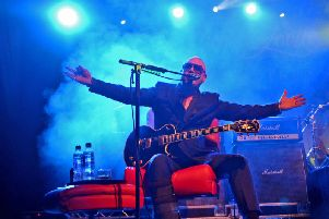 Fun Lovin' Criminals frontman Huey Morgan takes it easy at Northumbria Institute in Newcastle. Pic: Gary Welford