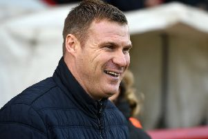 Mansfield's manager David Flitcroft