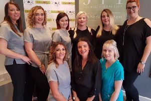 The successful team at the Victoria Rose hair and beauty salon in Mansfield Woodhouse.