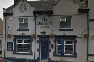 Pictured is the Butcher's Arms, On Church Street, at Brimington, Chesterfield.