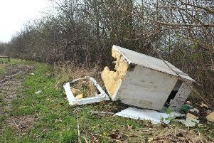 Fly tipping, Children's Forest, Pennywell, Sunderland.
