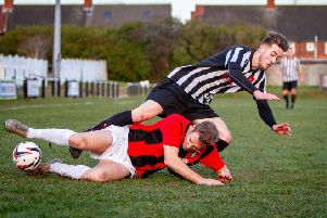 Action from Clipstone's goalless draw.(PHOTO: Dan Walker)