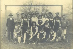 The old Mansfield hockey team from around a century ago