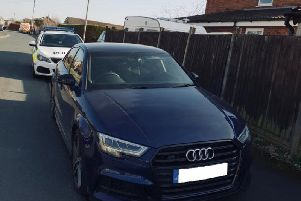 The car was reported after it had been parked up in Preston for 'an unusual amount of time'. Photo: Lancashire Police