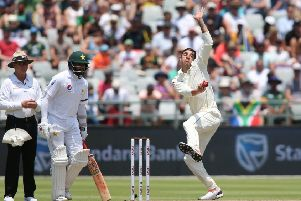 PACE ATTACK: Duanne Olivier of South Africa sends down a delivery in the second Test against Pakistan at  Newlands in Cape Town. Picture: Shaun Roy/Getty Images