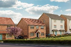 An artist's impression of the housing development at Klyppr Village in Clipstone.