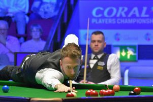 Judd Trump in action in his win over Jimmy Robertson (picture: Event Photos 67)