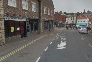 The incident happened outside Porto Pizza in Whitby. Picture: Google Maps.