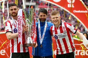 Lincoln won the Checkatrade Trophy in 2018 but missed out on promotion in the League Two play-offs.
