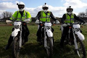 Nottinghamshire police Off Road Team.