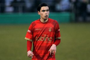 Callum Chettle, pictured here in Ilkeston colours, has signed for Matlock
