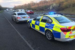 Pictures by Derbyshire Roads Police.