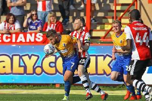 Alex MacDonald in action at Exeter.