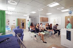 Practical care suites which will give students studying health science and social care a realistic experience of their future working environment