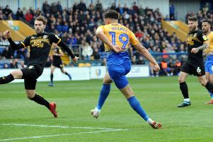 Mansfield Town v Cambridge Utd.'Tyler Walker puts the Stags in front in the second half.