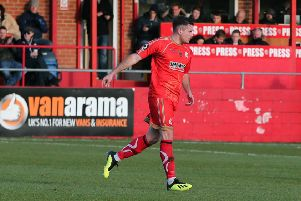 Alfreton's Jordan Sinnott scored the first goal.