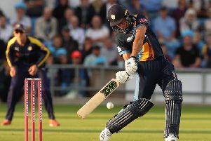 Wayne Madsen, who smashed his second double ton for Derbyshire. (PHOTO BY: David Rogers/Getty Images).