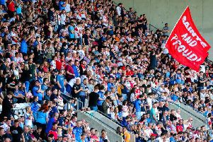 Saints fans turned out in force at the DW. Picture: SWPix