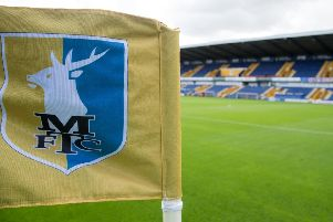 Mansfield Town fans ahead of today's win over Morecambe.