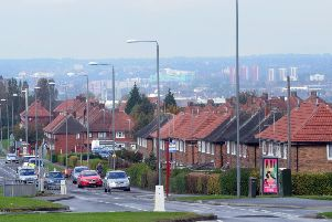 Belle Isle Road in Leeds, where a man was attacked with a machete