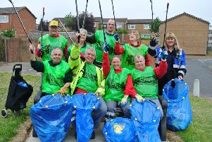 How some Mansfield residents took part in a previous Clean Up Day.