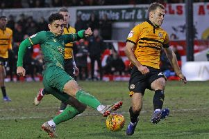 Tyler Walker in action at Newport County back in February.
