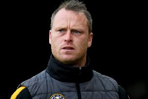 NEWPORT, WALES - APRIL 30: Newport County manager Michael Flynn during the Sky Bet League Two match between Newport County and Oldham Athletic at Rodney Parade on April 30, 2019 in Newport, United Kingdom. (Photo by Alex Davidson/Getty Images)