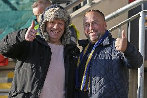 Stags fans pictured at Newport v Mansfield