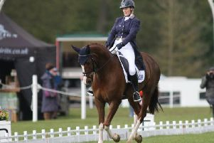 Zara Tindall in dressage.