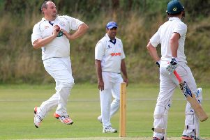 Jim Rhodes, whose burst of three wickets came too late to save Papplewick and Linby.
