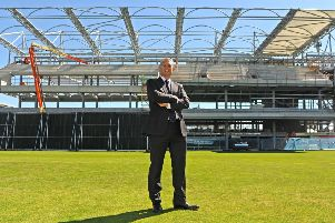 Mark Arthur, pictured during the construction of the new stand Headingley. Picture: Tony Johnson.