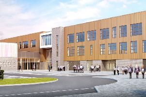 An artist's impression of the exterior of the new school.