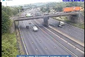 Junction 28 northbound of the M1