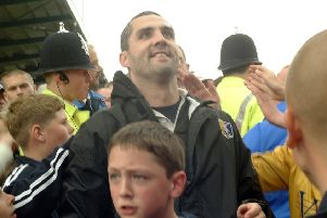 2002 Stags v Carlisle promotion to Div 2 Manager Stuart Watkiss with fans