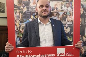Ben Bradley has worked closely with the homelessness charity, Crisis.
