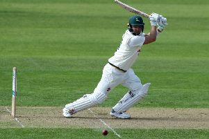 NOTTINGHAM, ENGLAND - APRIL 11:  Chris Nash of Nottinghamshire drives the ball during the Specsavers County Championship Division One match between Nottinghamshire and Somerset at Trent Bridge on April 11, 2019 in Nottingham, England. (Photo by David Rogers/Getty Images)