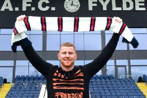 Alex Whitmore joins the Coasters   Picture: AFC FYLDE