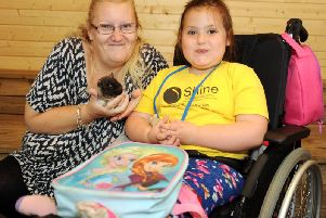 Super fans, Maisie-Grace Thitherley, 6 and her Nan Alison Marriott who are on their fourth visit of the week.