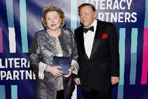 Barbara Taylor Bradford with her husband Robert, who has died at the age of 92.
