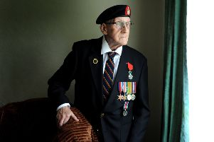 D-Day veteran Maurice Sutcliffe from Bradford, who served with the Royal Marines Landing Craft Division. Picture Tony Johnson.
