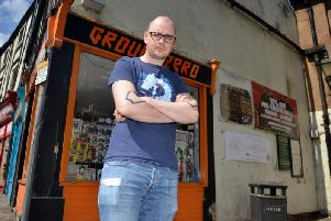 Richard Adam Reynolds owner of Ground Zero Comics.